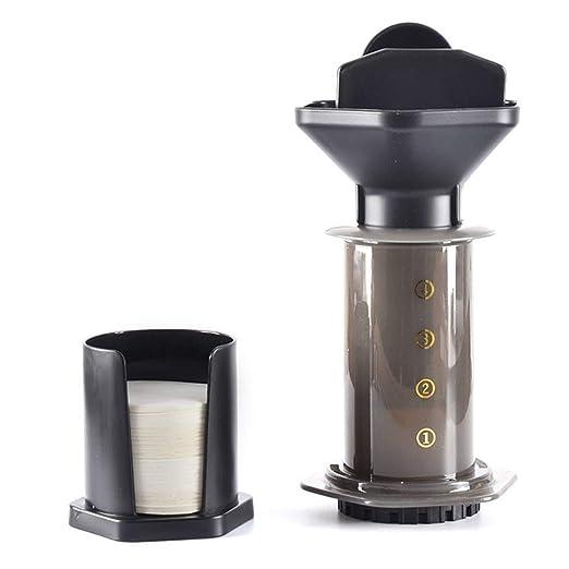 SUHUIHUANG Filtro de presión de Mano portátil de 240 ml cafetera ...