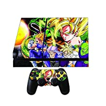Dragon Ball Z Premium Designer Skin Wrap for the Playstation 4 Console + 2 Free Ps4 Controller Skins by Gamergeekz