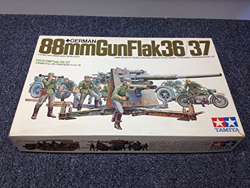 Tamiya GERMAN 88mm Gun Flak36/37 with Figures #MM117 1/35 *NEW in box! (35 German Gun)