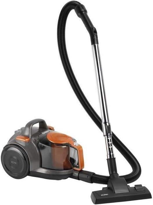 Aspirador SOLAC Enara 600 W-AS3103 sin bolsa - 600 W - Clase energ�tica: AAA - Negro y naranja: Amazon.es: Hogar