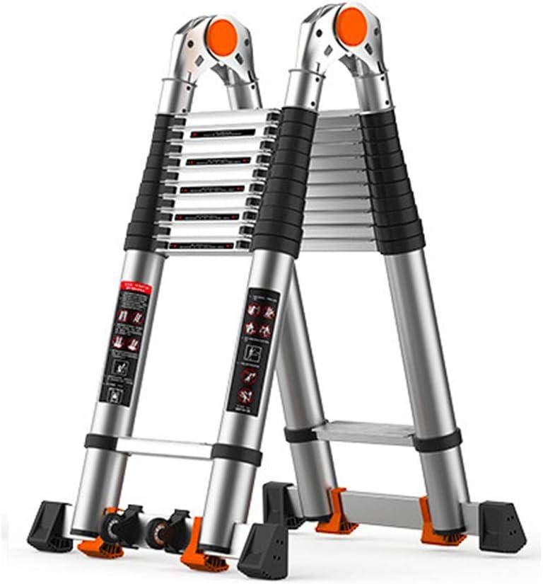Gububi Escalera Plegable Extensible Telescópica escaleras de Aluminio Escalera portátil extensión Multiuso for Interior al Aire Libre (Color : A, tamaño : 3.8M): Amazon.es: Hogar