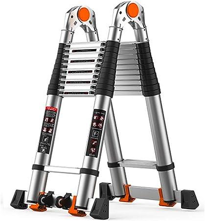 MOMIN Escalera telescópica Telescópica escaleras de Aluminio Escalera portátil extensión Multiuso for Interior al Aire Libre (Color : A, tamaño : 3.4M): Amazon.es: Hogar