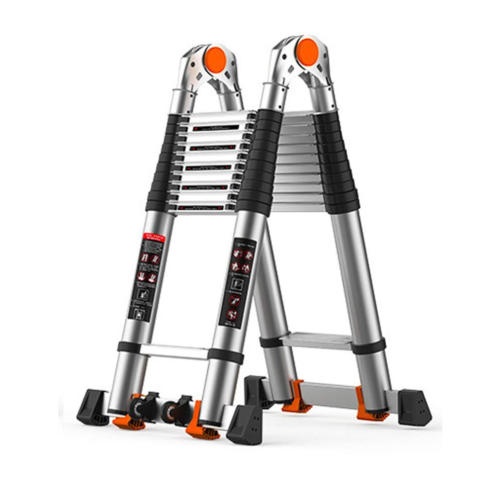 Dygzh Extension Ladder Indoor and Outdoor Multifunctional Telescopic Ladder Telescopic Ladder Portable Multi-Function Extension Ladder (Color : A, Size : 3.8M) by Dygzh