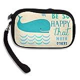 HACVREQ Unisex Personalized Wallet,Enjoy Life Purse Bag Woman Ladies Men Gentlemen