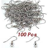 TOOGOO(R) 100pz Gancio orecchini argento
