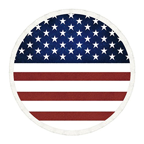 MONOMONO-Large American Flag US.Pattern Bath Beach Soft Towel Blanket Multifunction - Beach Mall California Long