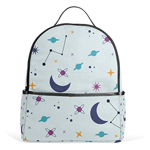Backpack Space Moon Schoolbag 1-3th Grade for Boys Teen Girl