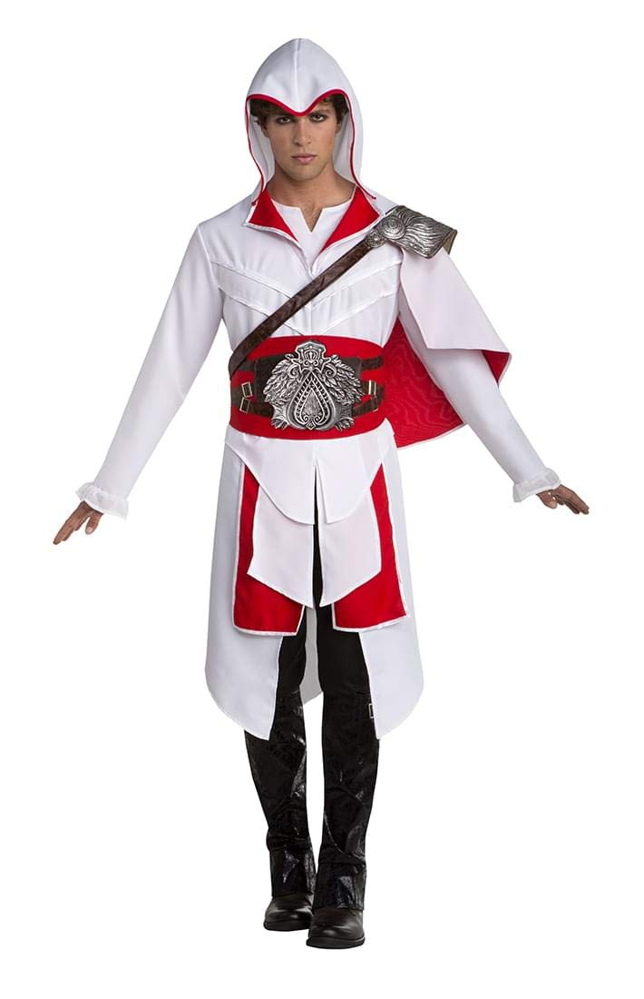 Assassins Creed Ezio Mens Costume (White) - Large 44: Amazon.es ...