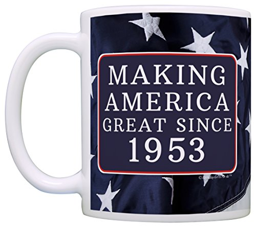 65th Birthday Gifts Making America Great Since 1953 Funny 65th Birthday Party Supplies 65th Birthday Gag Gift Coffee Mug Tea Cup USA Flag by Birthday Gifts For All (Image #2)