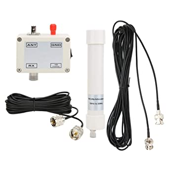 Antena Activa Mini Whip, Hf Lf Vhf Sdr Rx 10Khz-30Mhz 12-15V Con Cable PortáTil Bnc 10 Khz-30 Mhz