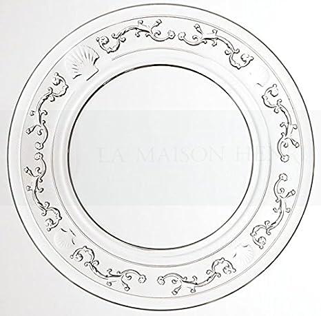 La Rochère Versailles vidrio-plato estándar, diámetro: 25 cm: Amazon.es: Hogar