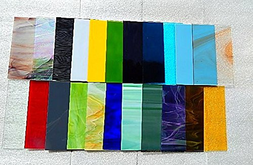 "20 Sheets SPECTRUM Stained Glass 3mm (4"" x 6"") Opals Cathedrals Texture"