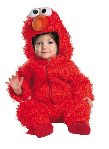 Elmo Infant Plush Halloween Costume, Red, 12-18