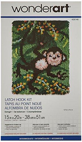 Wonderart Swingin Latch Hook Kit, 15