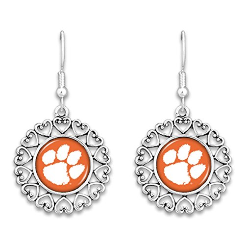 FTH Clemson Tigers Logo Circle Earrings with ()