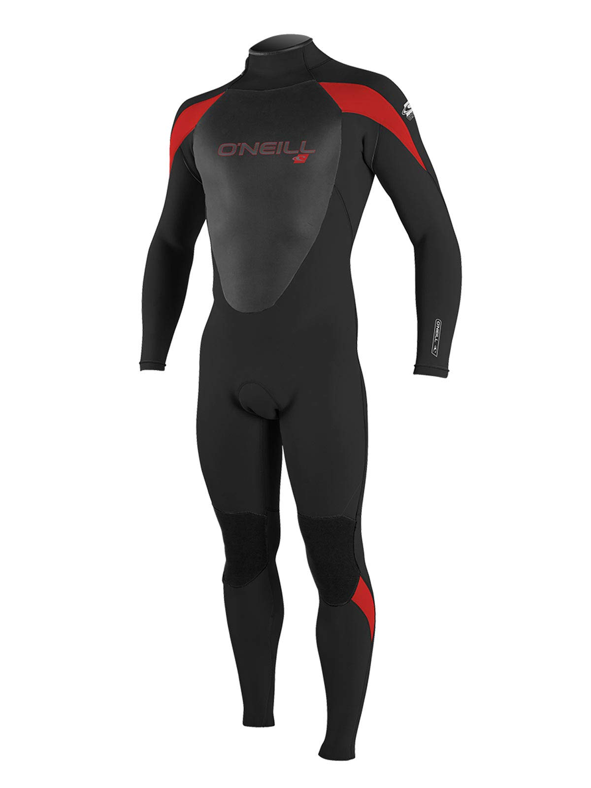O'Neill Men's Epic 4/3mm Full Wetsuit (Black/Black/red, Medium)