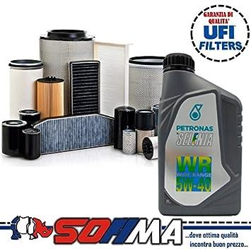Kit de aceite Selenia WR 5W40 5 litros, 4 filtros Sofima Alfa 147 / GT 1.9 JTD: Amazon.es: Coche y moto