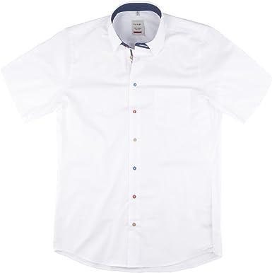 Haupt XXL Camisa de Moda de Manga Corta Blanca, 2xl-8xl:3XL ...