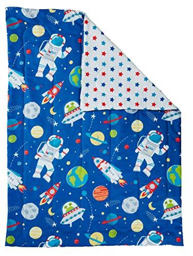 Bloomsbury Mill - 4 Piece Toddler Comforter Set - Outer Space, Rocket & Planet - Blue - Kids Bedding Set 3