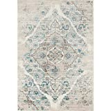 "4620 Distressed Cream 8'9""x12'6"" Area Rug Carpet"