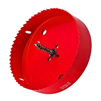 6 Inch Hole Saw For Making Boards Heavy Duty Steel Corn Hole Drilling