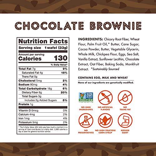 Rip Van Wafels Chocolate Brownie Stroopwafels - Healthy Snacks - Non GMO Snack - Keto Friendly - Office Snacks - Low Sugar (3g) - Low Calorie Snack - 12 Pack 7