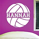 Custom Volleyball Wall Decal, 0058, Personalized Volleyball Wall Decal, Volleyball Theme Wall Decal, Girls Room Vinyl Lettering, Custom Name