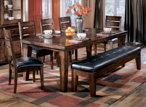 Signature Design by Ashley Larchmont Casual Dining Room Set with Dining Table, 6 x Dining Chair and Other Items