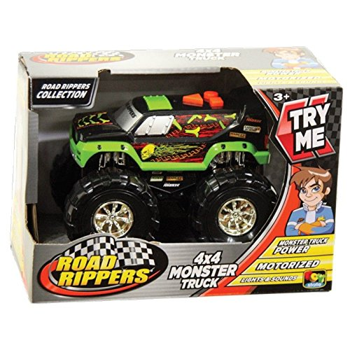 Toystate Road Rippers Light and Sound Armored 4X4 Monster Truck Vehicle (Monster Truck Sound)
