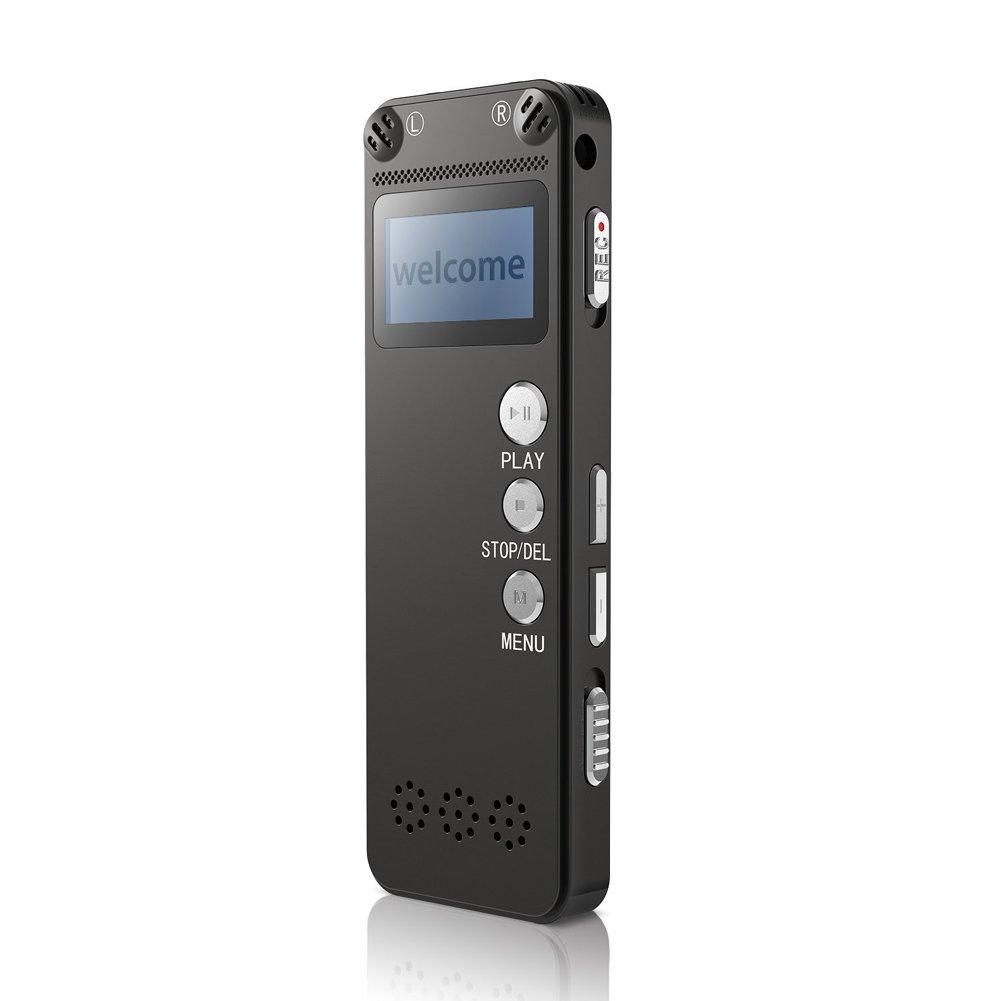Registratore vocale digitale LWD 8GB, Dictaphone banda orologio da polso, registratore braccialetto portatile, ricaricabile, Applicare a Meeting, Lezione, Conversazione, Intervista