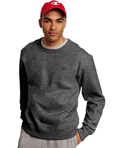 Jumper Heather - Champion Men's Powerblend Pullover Sweatshirt, Granite Heather, Small