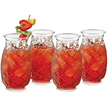 Libbey Pineapple 4-piece Tiki Glass Set