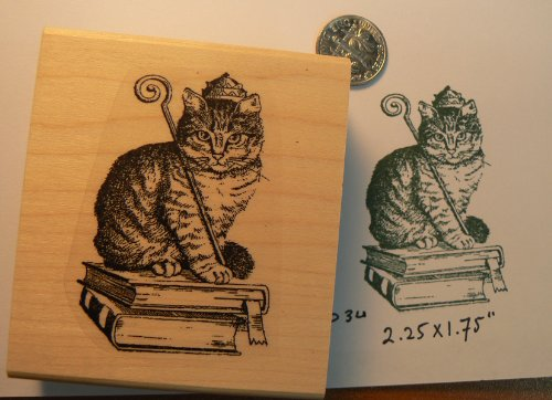 Royal Rubber Stamp - Royal Cat rubber stamp WM P34