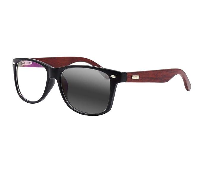 Amazon.com: Gafas de lectura fotocromáticas de madera de ...