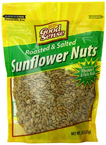 Good Sense Sunflower Nuts,  Roasted Salted, 8-Ounce (Pack of 12)