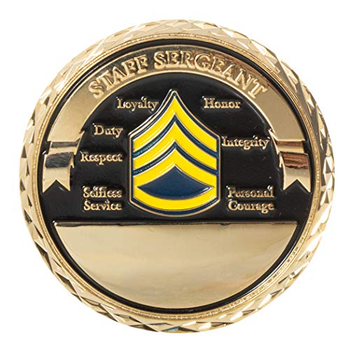 United States Army Staff Sergeant Non-Commissioned Officer Rank Challenge Coin ()