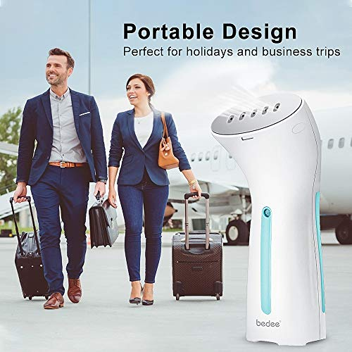 bedee Clothes Steamer, Handheld Steamer for Clothes, Portable Garment Steamer Travel Iron Wrinkle Remover – Mini Size, 25s Fast Heat-up, Auto-Off, Lightweight for Travel, Home and Office