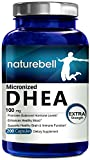 NatureBell Micronized DHEA 100 mg, 200 Capsules, Maximum Strength, Promotes Healthy Aging, Boosts Energy Level, Made in USA