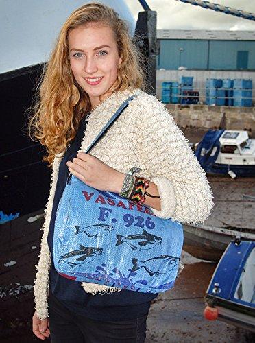Voyage Fair Trade, Borsa a secchiello donna Blu blu