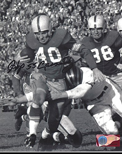 (Hopalong Cassady Autographed Ohio State Buckeyes 8x10 Photograph - Breaking Tackles - Certified Authentic - Autographed Photos)