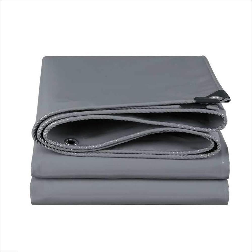 防水シート/防水キャンバス、屋外カバー/農場/キャンプ/倉庫のカバークロスのための灰色のポリエチレンの防雨布 (Color : Gray, サイズ : 4mx8m) 4mx8m Gray B07P8DCSJR