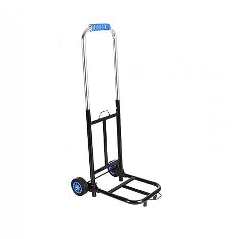Carrito Plegable Dolly Carrito portátil para Equipaje Carrito de Compras Trolley para el hogar Trolley Silencioso