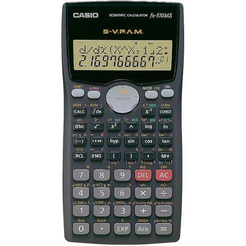 Casio #FX-570MS 2-Line Display Scientific Marix Vector Calcu