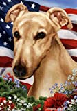 Cheap Greyhound Dog Breed Patriotic House Flag 28 x 40 Inches