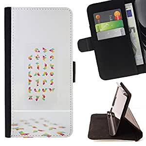 Momo Phone Case / Flip Funda de Cuero Case Cover - Random Arte Abstracto colorido - Samsung Galaxy S6 Active G890A