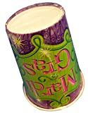 Durable & Non-Toxic {9 Ounce} 8 Count of Recyclable Mid-Size Disposable Cups, Made of Paper w/ Plain Solid Opaque Classic Simple Zany Mardi Gras Party Style {Black, Green, & White