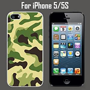 Camo Green Custom Case/ Cover/Skin *NEW* Case for Apple iPhone 5/5S - White - Rubber Case (Ships from CA) Custom Protective Case , Design Case-ATT Verizon T-mobile Sprint ,Friendly Packaging - Slim Case by icecream design