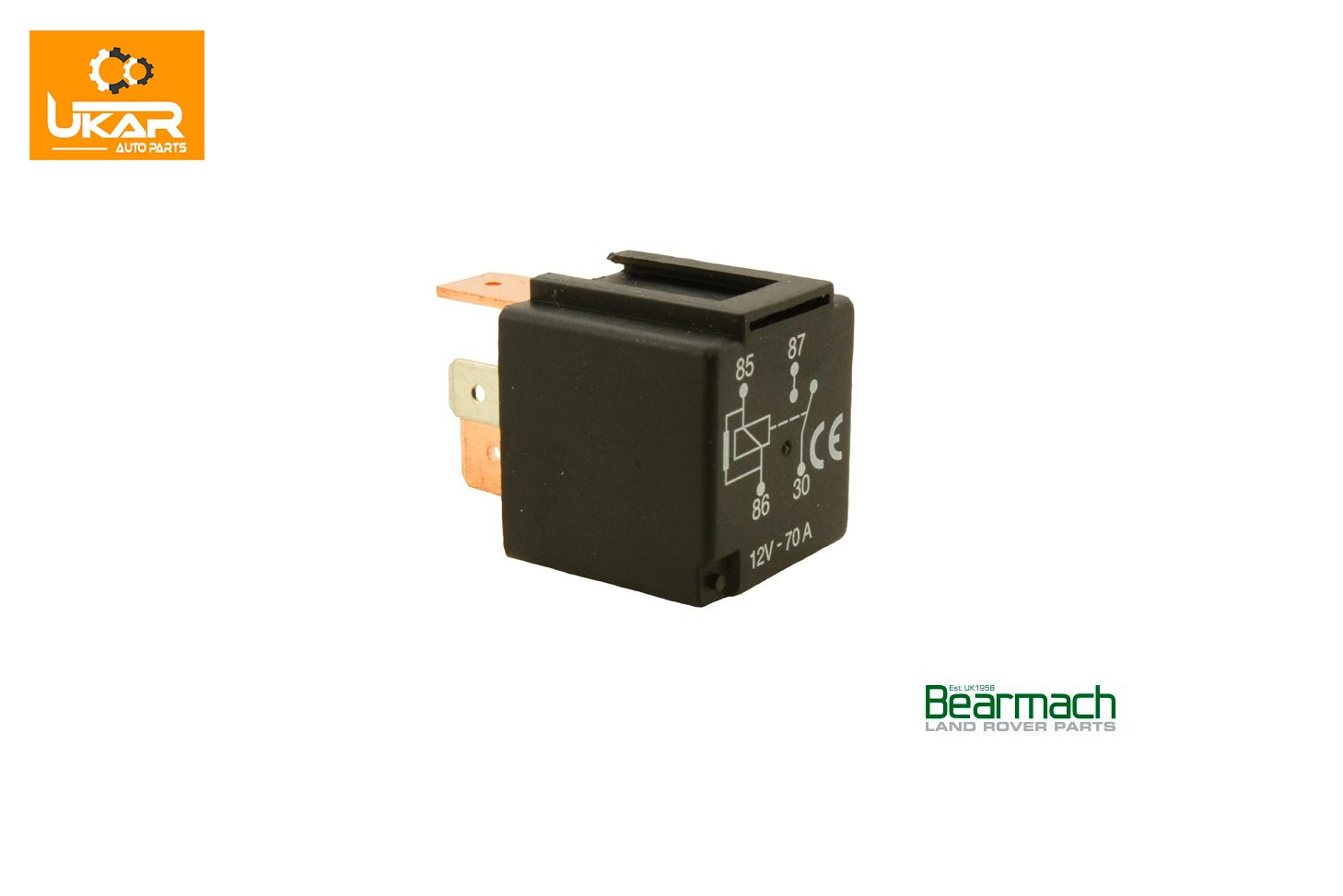 Land Rover Discovery 3 L319 Relay, Black 70 Amp Various Use Part# YWB500220 ALLMAKES 4x4 UK