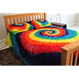 Classic Rainbow Tie-Dye - 100% Cotton Duvet Cover Set by Brightside - Twin XL