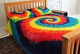 300tc Duvet Cover Set - Rainbow Tie-Dye - Full/Queen Size